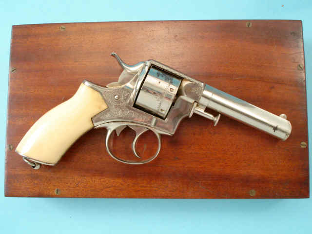 Priced in Auctions : Webley Scott Double Action Revolver retailed by