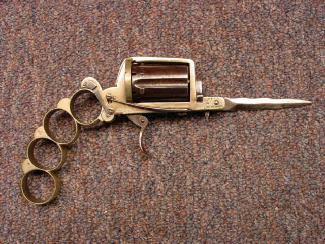 priced in auctions apache knuckleduster 8mm revolver and knife